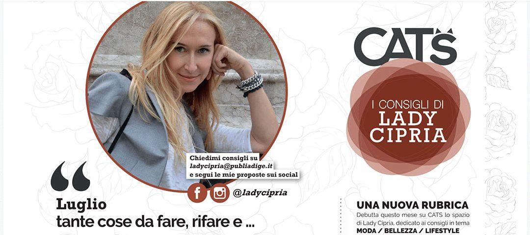 CATS, magazine de Il Giornale di Vicenza, sceglie Lady Cipria